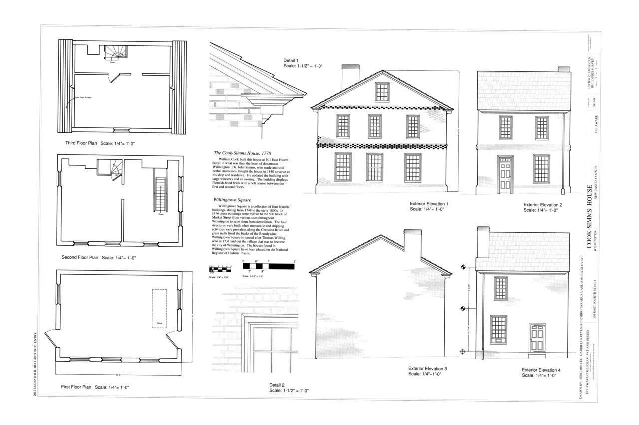 Elevation Plan Wiki : File floor plans elevations details cook simms house