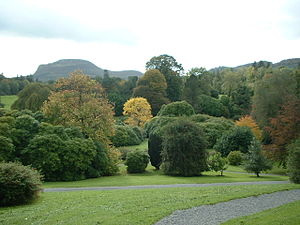 Florence Court - Florence Court estate in early autumn; nestled in the foothills of Cuilcagh Mountain