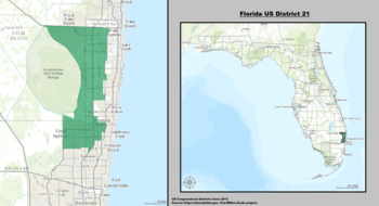 Florida's 21st congressional district - since January 3, 2013.