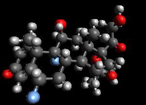 Fluocinolone acetonide - Image: Fluocinolone acetonide (Ball n Stick)