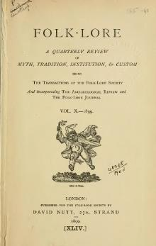 Folk-lore - A Quarterly Review. Volume 10, 1899.djvu