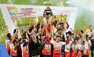 Foolad F.C. - Foolad players celebrating winning their second IPL title in 2014