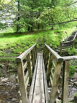 Footbridge Rossendale Way - geograph.org.uk - 435244