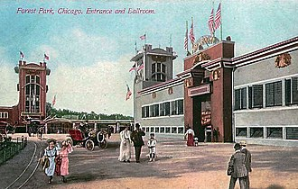 Forest Park, Illinois - Image: Forest Park Illinois amusement park entrance and ballroom