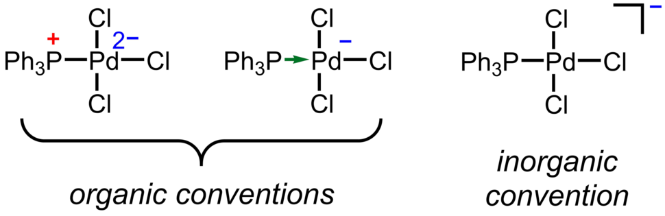 Formal charge conventions