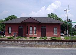 Railroad depot in Wyoming