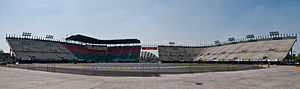 Autódromo Hermanos Rodríguez - The cars will cut the Peraltada and drive through the Foro Sol baseball stadium.