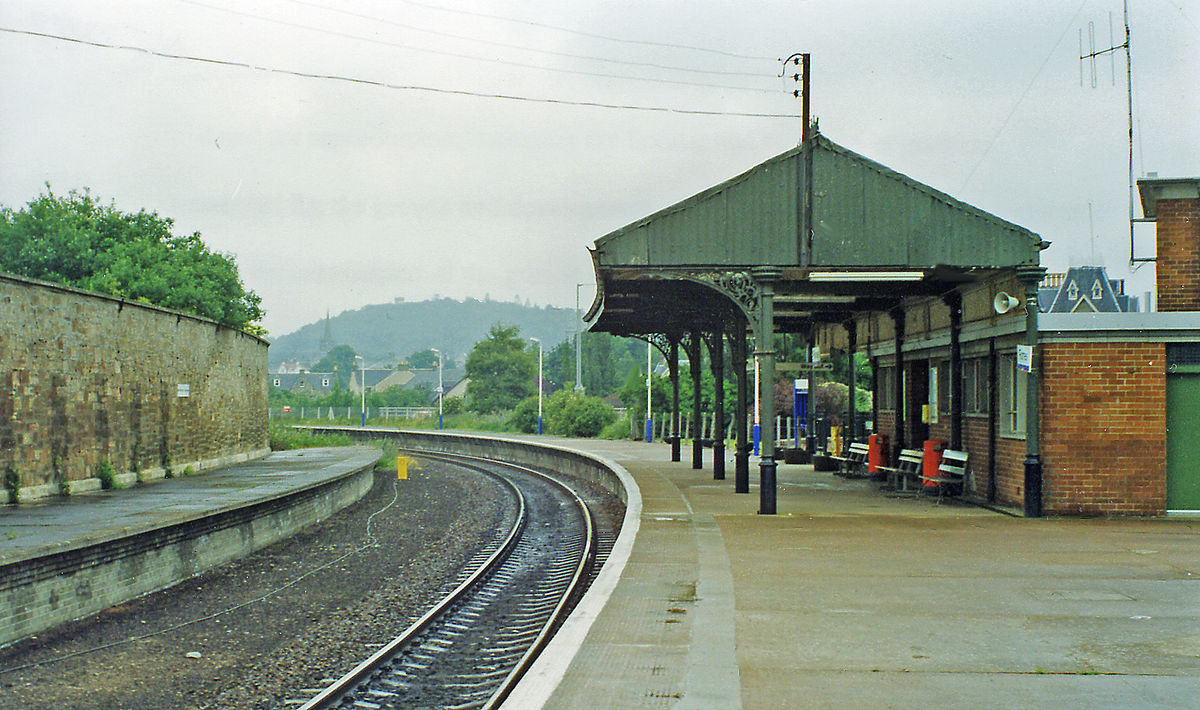Forres railway station...