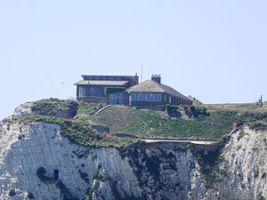 Freshwater Redoubt - Fort Redoubt on the cliff of Freshwater Bay.