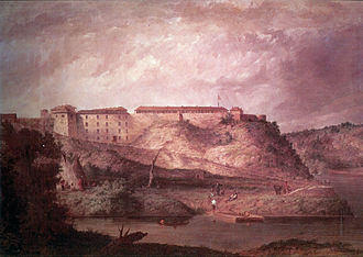 History of the United States Army - A painting of Fort Snelling.