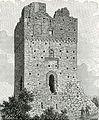 Fortunago avanzi del castello, lato di fronte xilografia di Barberis.jpg