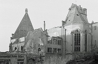 St. Matthew, Leipzig - Ruins after the bombing