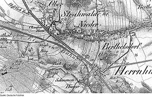 Herrnhut - Image: Fotothek df rp c 0680039 Strahwalde. Oberreit, Sect. Zittau, 1844 46