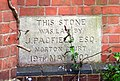 Foundation stone, Birtsmorton methodist chapel - geograph.org.uk - 815320.jpg
