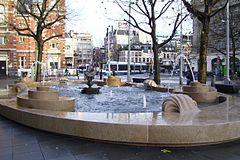 De Hans Snoek fontein op het Leidseplein. 2008