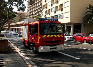 Military of Monaco - Fire appliance of the Monégasque firefighters