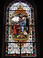 Fr Chapelle Notre-Dame-de-Lhor Saint Anthony the Great stained glass.jpg