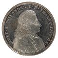 Framsida av medalj med Gustaf von Psilande i profil - Skoklosters slott - 99444.tif
