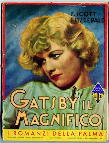 cover of the first edition of gatsby il magnifico the great gatsbys italian language edition as published by mondadori in 1936