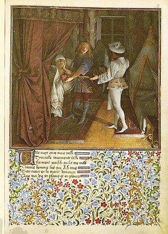 Barthélemy d'Eyck - Miniature from the Livre du cueur d'amour esprit.