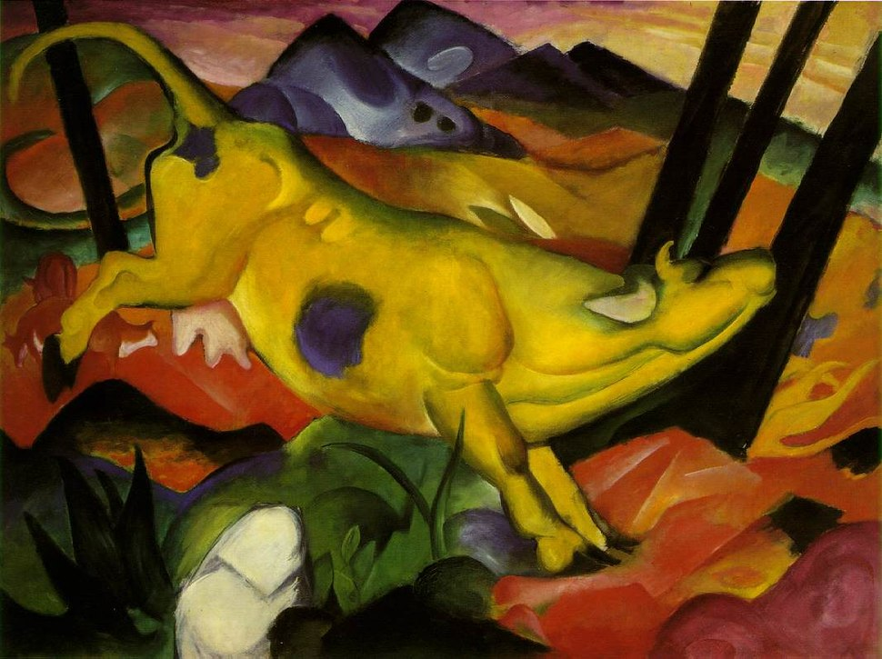Franz Marc-The Yellow Cow-1911