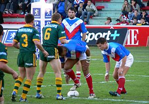 Rugby league in France - Image: Fraus 04rugby 13
