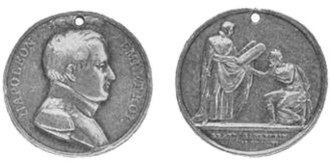 Grand Sanhedrin - Medallion struck by the Paris mint in commemoration of the Grand Sanhedrin.