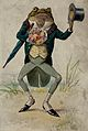 Frog dressed as gentleman with flowers, top hat and umbrella Wellcome V0050703.jpg
