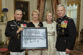 From left, U.S. Marine Corps Gen. George J. Flynn; First Lady of the Marine Corps Bonnie Amos; Gen. Flynn's wife, Sally; and the 35th Commandant of the Marine Corps, Gen. James F. Amos, pose for a photo 130509-M-LU710-117.jpg