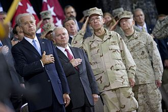 Jim Mattis - Vice President Joe Biden, Secretary of Defense Robert Gates, Admiral Mike Mullen and General Mattis in Baghdad, Iraq