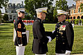 From left, the 17th Sergeant Major of the Marine Corps, Sgt. Maj. Micheal P. Barrett; the 35th Commandant of the Marine Corps, Gen. James F. Amos; and Gen. George J. Flynn, participate in a retirement ceremony 130509-M-LU710-204.jpg