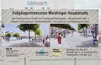 Binnen-I - Image: Fußgänger Innenzone Meidlinger Hauptstraße