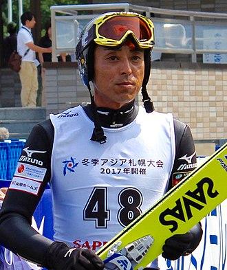 Kazuyoshi Funaki - Funaki at the 2014 Okurayama Summer Ski Jumping Championship