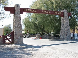 Furnace Creek, California - Entrance to Furnace Creek Ranch
