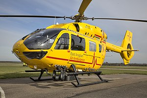 East Anglian Air Ambulance - G-HEMC, an Airbus Helicopters H145 (formerly EC145 T2) completed its first HEMS mission with EAAA on 2nd April 2015. This aircraft now operates as Anglia Two at Cambridge Airport.