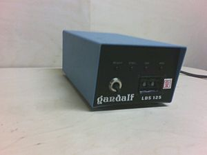 """Gandalf Technologies - A Gandalf terminal host selector, or """"Gandalf box"""", was a common feature in many university and company computer centers into the 1990s. It communicated with a Gandalf PACX crossbar in the machine room."""