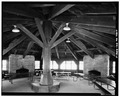GENERAL VIEW OF INTERIOR LOOKING NORTHWEST - Octagon Shelter, Truxell Road, Peninsula, Summit County, OH HABS OHIO,77-PEN.V,4-5.tif