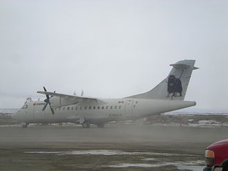 First Air - ATR 42 at Cambridge Bay Airport, newer livery