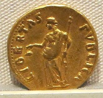 Libertas - Image: Galba, aureo, 68 69, 02