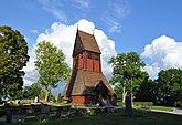 Fil:Gamla Uppsala kyrka klockstapel Sverige.jpg