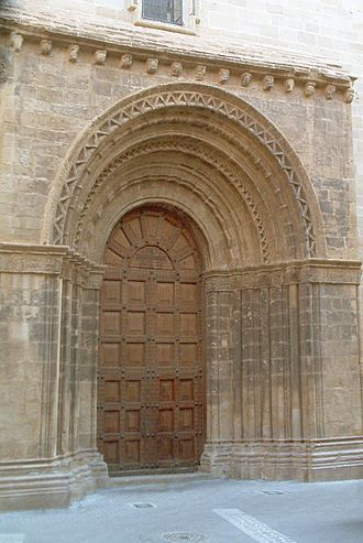 Gandesa - Church door, Gandesa