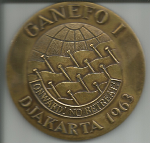 GANEFO - Ganefo Bronze medal for Argentinian Water Polo Team. Donated by Héctor Ernesto Urabayen