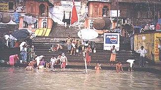 Pilgrims on the Ganges