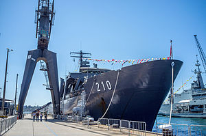 Endurance-class landing platform dock - Endeavour at Garden Island during the International Fleet Review 2013.