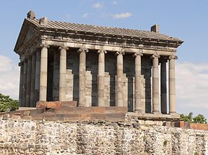 Armenian mythology - Side view of the Garni Temple.