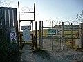 Gates at boundary of Lulworth Ranges - geograph.org.uk - 1632863.jpg