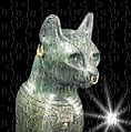 Gayer-Anderson Cat head - in British Museum, with star added.jpg