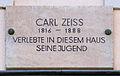Gedenktafel Kaufstr 1 (Weimar) Carl Zeiss.jpg