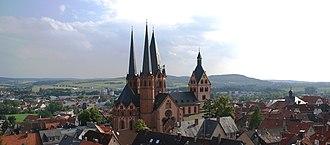 Gelnhausen - View of Gelnhausen with the Marienkirche