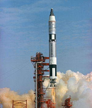 Gemini 3 - Launch of the first manned Gemini flight